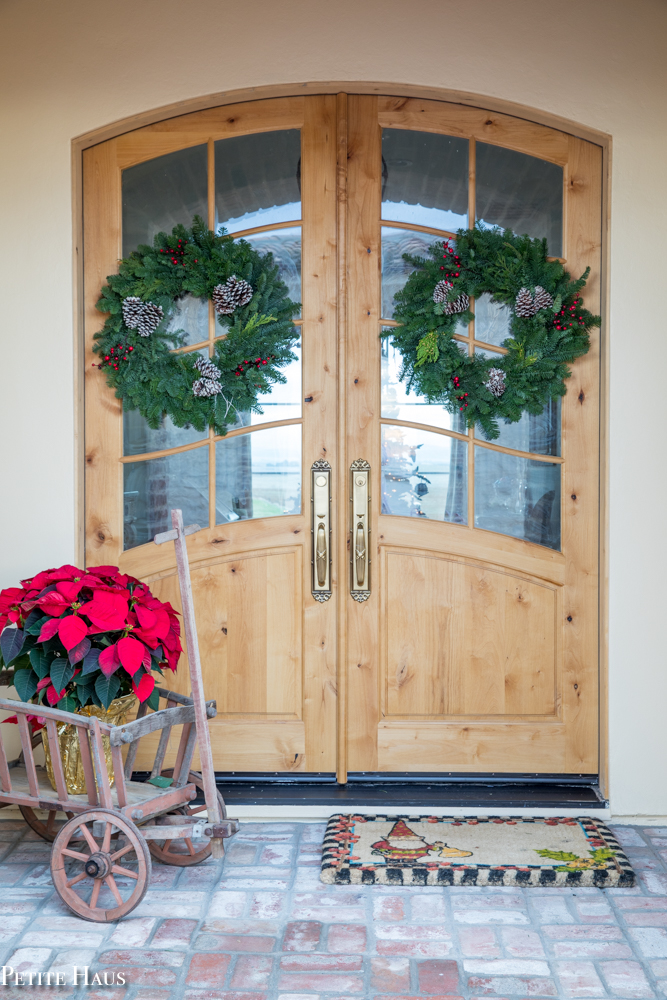 A French Country Christmas Entryway