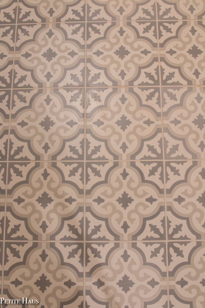 Light Blue and Grey Patterned Encaustic Cement Tile