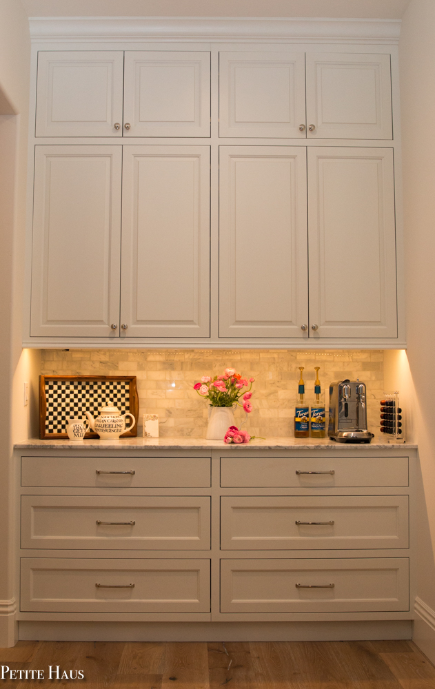 butler 39 s pantry coffee bar and walk in pantry petite haus. Black Bedroom Furniture Sets. Home Design Ideas