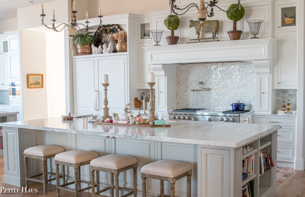 White and Grey French Country Farmhouse Kitchen