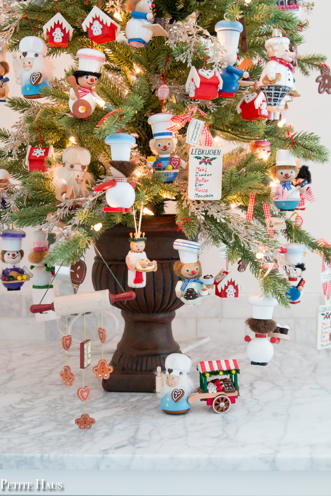 below is my chef tree filled mainly with handmade german wooden chef ornaments - German Handmade Wooden Christmas Decorations