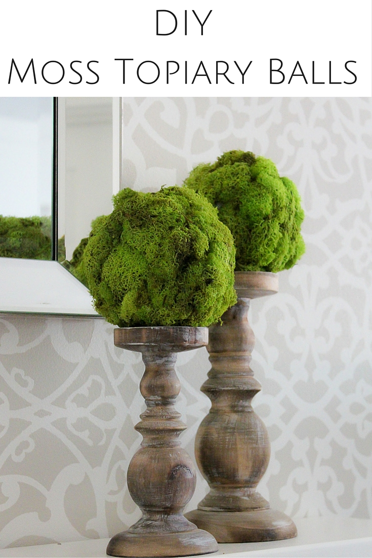 Diy Moss Topiary Ball Tutorial Kid S Bedroom Decorating Ideas And More Tft Petite Haus