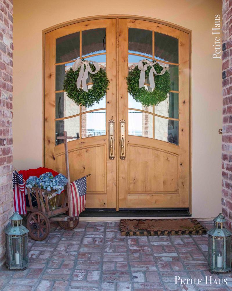 patriotic Summer front porch