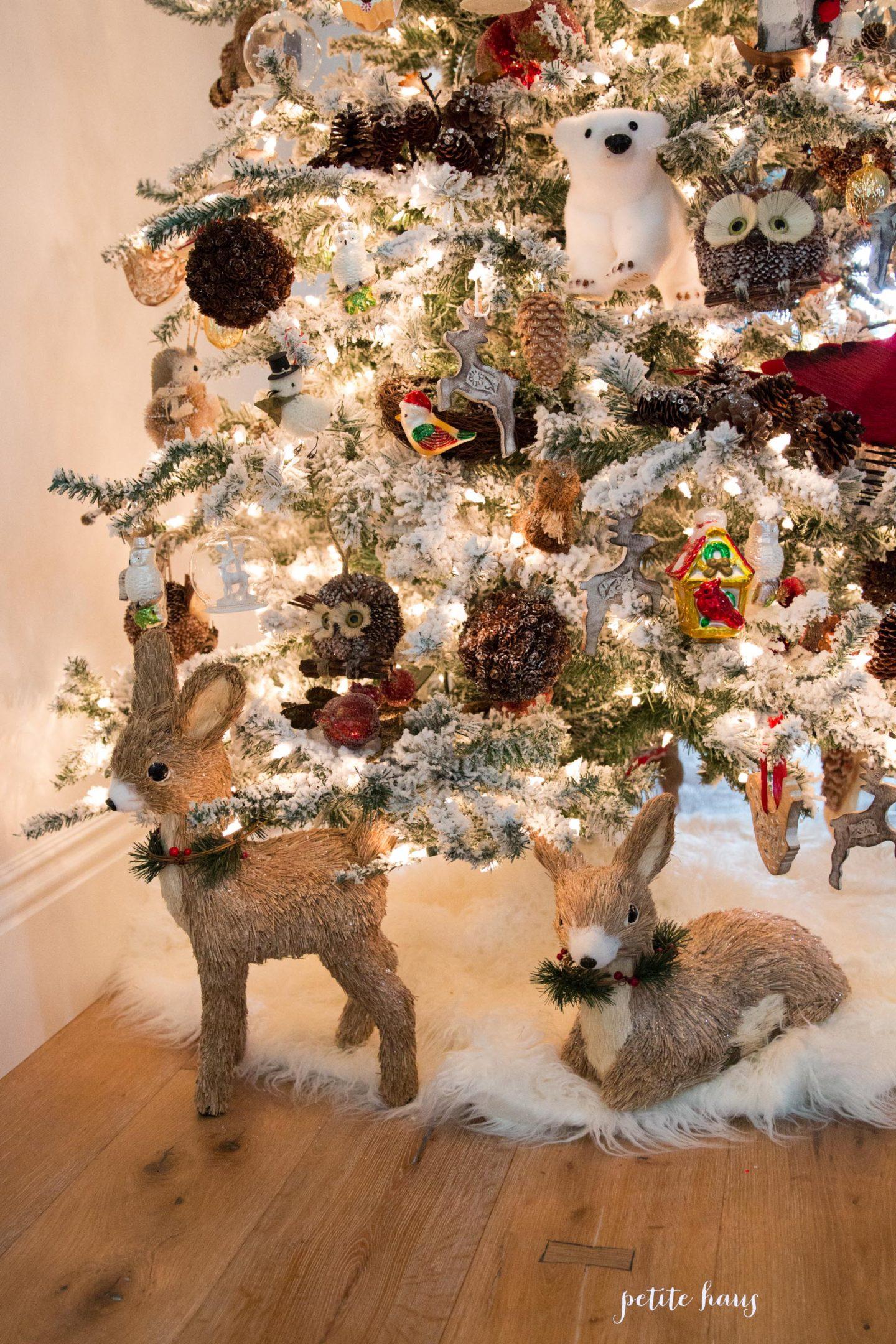 Flocked Woodland Christmas Tree Petite Haus